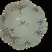 SALE Antique Haviland Tarascon Violet Bowl