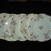 SALE Set of 5 Haviland Tarascon Violet Salad Plates