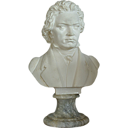 SALE Italian Marble Bust Of Beethoven