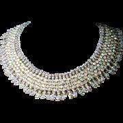 SALE AB Swarovski Crystal Collar Necklace
