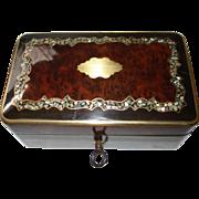 SALE Napoleon III MOP Marquetry Box