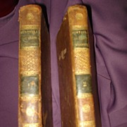 SALE Antiquarian 2 Volume Set History Of  Marie Antoinette 1814