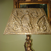 SALE Art Nouveau Figural Lamp