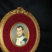 SALE Miniature French Portrait Of Napoleon Bonepart