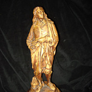 SALE Cast Wooden Sculpture Of John Milton