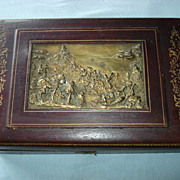 SALE French Leather Bronze Box