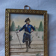 SALE French Miniature of Louis XlV