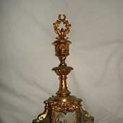 SALE French Gilded Spelter Candle Holder and Snuffer