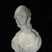 SALE Marble Bust Madam Duberry