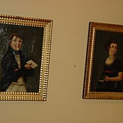 SALE French Paintings Of Napoleon and Josephine Bonaparte c18th
