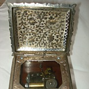 SALE Vintage Silver Plate Fred Zimbalist  Music Box