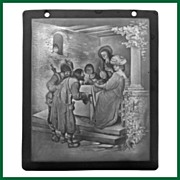 SALE 19th Century Lithophane Beggar Scene