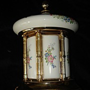 SALE Italian Porcelain Carousel Music Box