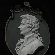SALE German Porcelain Plaque Of Wolfgang Amedeus Mozart