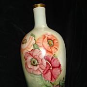 SALE Belleek Hand Painted Poppy Urn
