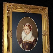 SALE Mary Queen Of Scot's Water colour Portrait