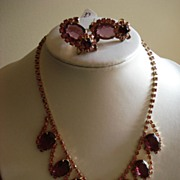 SALE Vintage Juliana Parure Necklace and Earrings