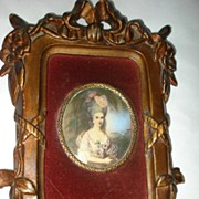 SALE Miniature Painting Marie Antoinette c19th