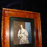 "SALE Miniature Rare German Water Colour ""Henriette Van Frankreich"""