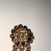 SALE Vintage Diamante Waterfall Brooch