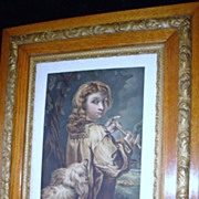 "SALE 19th Century English Water Colour Painting ""The Shepherd Boy"""