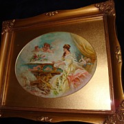 SALE Oil On Canvas Painting Woman and Cherubs c1910