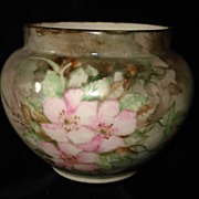French Limoges Hand Painted Rose Bowl c19th