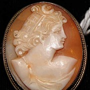 Victorian Silver Shell Cameo  Brooch c1880