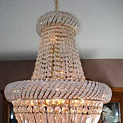 SOLD French Crystal Chandelier