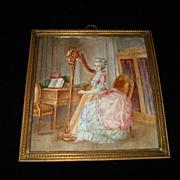 SALE Water Colour Of Composer Emilie Folville c1880