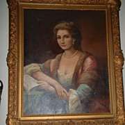Portrait Oil Painting of  Duchess De Chartes   signed Walters c19th