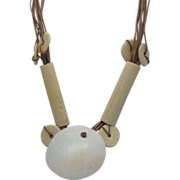 REDUCED TO CLEAR Massive Runway Bone and Shell Tribal Necklace
