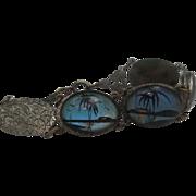 Art Deco Monarch Butterfly Wing Bracelet