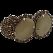 Gorgeous Alice Caviness Bracelet Hinged Rhinestones