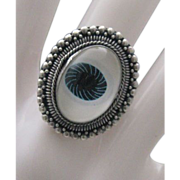 Sterling 925 Silver Evil Eye Ring Unisex size 5 3.4