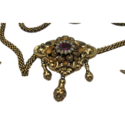 REDUCED Austro Hungarian 18 K Gold Bohemian Seed Pearl Necklace Earrings 6700.00 CAD Appraisal