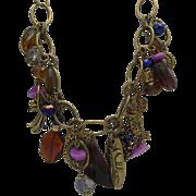 Glass Charm Necklace c1970