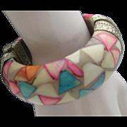SALE MOP Rainbow Indian Bracelet c1960