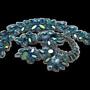 SALE Unmarked Sherman Sapphire Bracelet Brooch Earrings