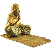 SOLD BERGMAN Vienna Bronze - Cold Painted Arab on Carpet