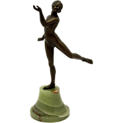 SOLD Austrian Bronze Nude Dancer on Onyx Base - Red Tag Sale Item