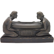 SALE GUSTAV GURSCHNER Austrian Bronze Art Nouveau Centerpiece EXQUISITE
