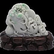 SOLD HEAVY 5 lb Vintage Lavender Jadeite Jade Chinese Figure - Buddha's Hands & Lotus Root