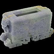 SOLD FINE Vintage Natural Lavender & Apple Green Jadeite Jade Chinese Censer