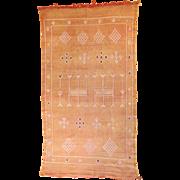 "SALE Moroccan Embroidered Kelim Tribal Rug 6' 2"" x 3' 4"""