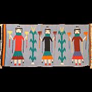 "SALE Native American Navajo Pictorial Rug 3' x 1' 6"""