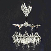 Helena Nachtmann Bleikristall Six Water or Red Wine Cut Crystal Goblets Mint Unused