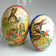 Vintage Easter Egg Nested Candy Container - Rabbit - Set 2