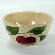 Watt Pottery Apple Pattern - Small Ribbed Mixing Bowl #05 - 1950s