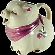 Vintage Shawnee Smiley Pig Large Pitcher Scarf & Clover Blossom